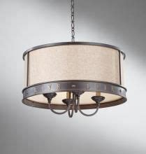 feiss four light bronze drum shade chandelier live