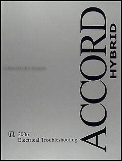 Honda Accord Hybrid Electrical Troubleshooting