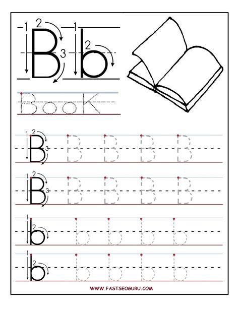 Letter B Worksheets For Preschoolers  Printable Letter B Tracing Worksheets For Preschool