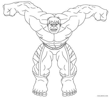 Incredible Hulk Free Coloring Pages