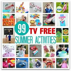 99 Tv Free Summer Activities For Kids  No Time For Flash Cards