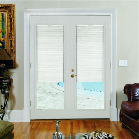 exterior doors with built in blinds
