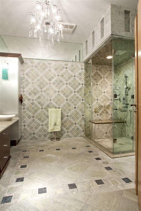 classicaly modern wheelchair accessible bathroom