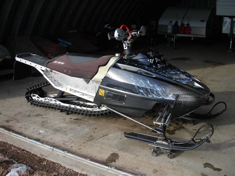 custom built  extremely lightened polaris rmk rolling chassis