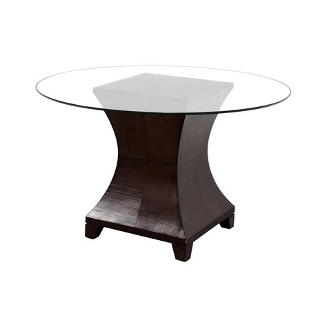 90 Off Round Glass Top Dining Table Tables