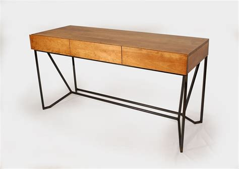 modern desk with drawers hand crafted modern industrial 3 drawer desk by