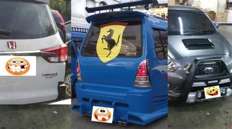 10 modifikasi lucu ala mobil orang indonesia nomor 7 dan