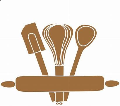 Utensils Clip Bakery Baking Kitchen Clipart Vector
