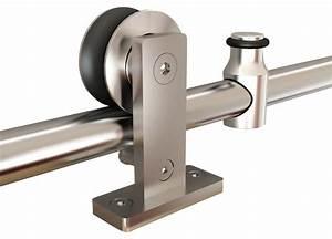 shop houzz top mount stainless steel barn door hardware With barn door hardware weight limit