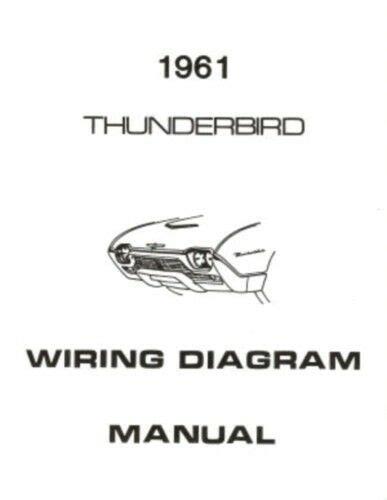 Ford Thunderbird Wiring Diagram Manual Ebay