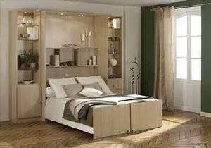 Pont De Lit Blanc : lit avec meuble fabrication d un lit escamotable efutoncovers ~ Teatrodelosmanantiales.com Idées de Décoration