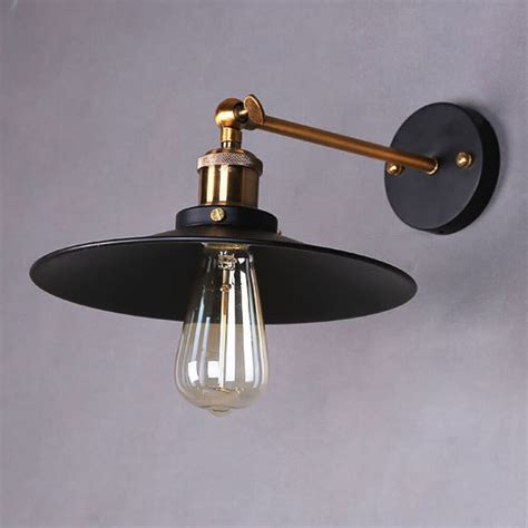retro industrial rustic metal wall sconce l