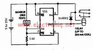 Water Sensor Circuit Using 555 Timer