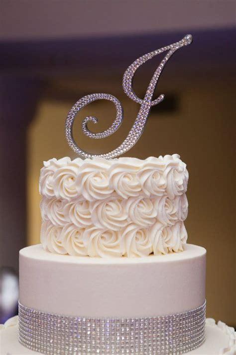 shipping swarovski crystal monogram cake topper  letter
