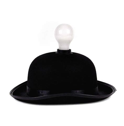 hat with light built in lightheaded bowler hat with built in light bulb l