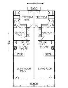 Narrow Duplex Floor Plans