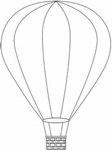 Hot Air Balloon Template Printable