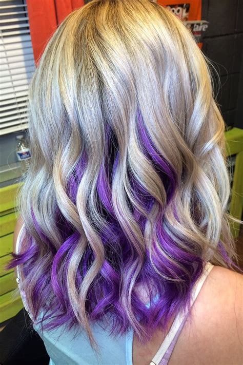 Perfect Blonde With Purple Orchid Underneath By Laura C