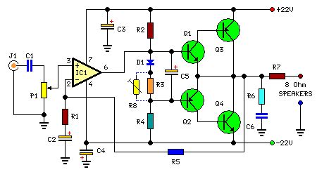 build watt audio amplifiercircuit diagram world