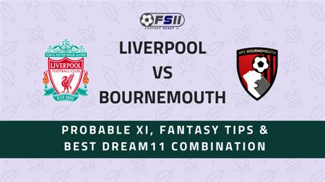 LIV vs BOU | Liverpool vs Bournemouth | Premier League ...