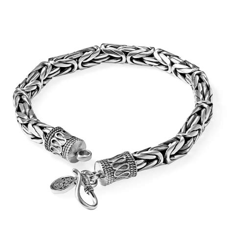 vintage mens  sterling silver chain bracelets  men