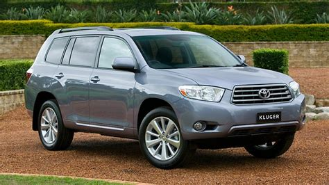 The toyota kluger, known as the toyota highlander in north america, is a crossover suv assembled by toyota under the toyota brand name in its kyūshū, japan assembly plant and its ikeda, osaka, japan assembly plant during 2008 and present. It's all about the badge: Kluger