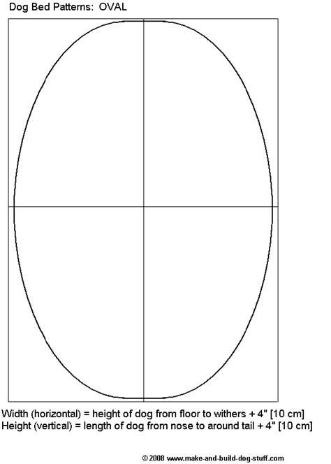 oval dog bed patterns