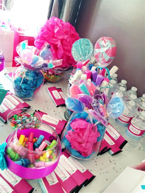 candy couture spa  birthday party
