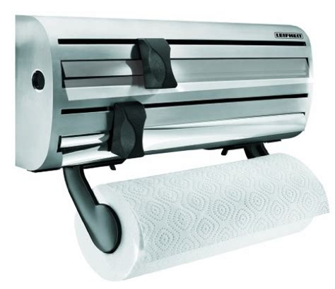 cuisinart home cuisine leifheit wall mounted paper towel foil and plastic wrap