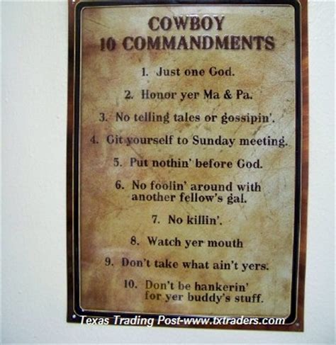 cowboy  commandments