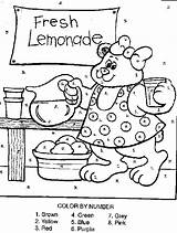 Lemonade Coloring Stand Pages Number Bear Drawing Activity Popular Getdrawings Coloringhome sketch template