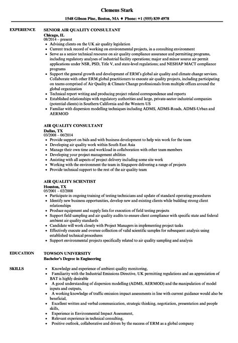 Air Resume by Air Quality Resume Sles Velvet