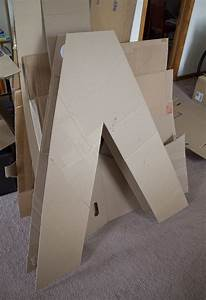 making giant letters out of cardboard postres With giant 3d cardboard letters