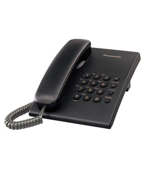 buy panasonic kx ts500 corded landline phone black