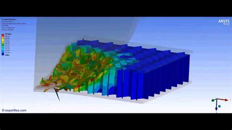 ansys wb finite element analysis crash test   composite honeycomb sandwich panel youtube