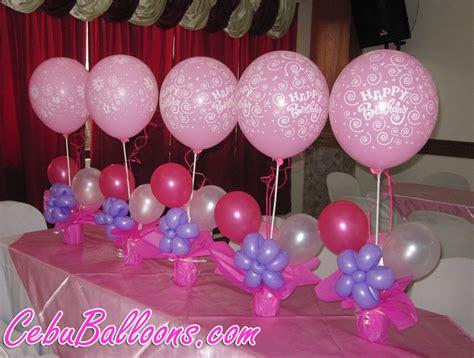 Happy Birthday Centerpieces At Maria Lina Cebu Balloons