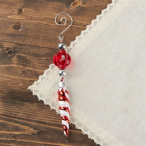 peppermint swirl icicle ornament christmas ornaments
