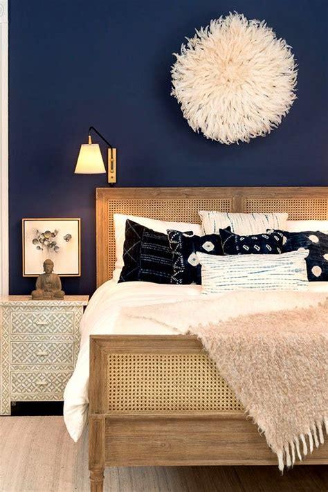 dark navy   accent wall color bedroom remodel