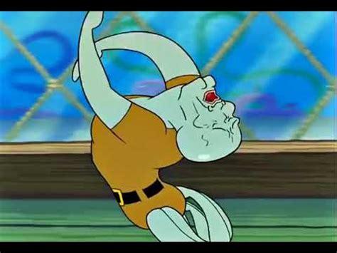 bob esponja calamardo guapo cayendose por  horas