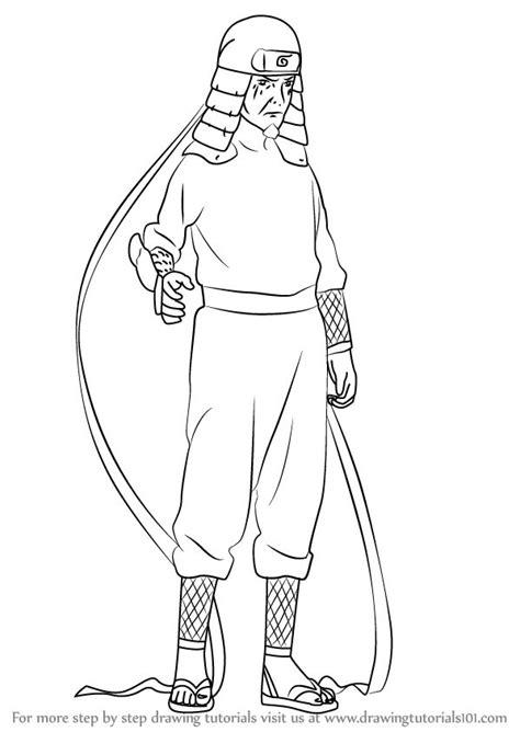 learn   draw hiruzen sarutobi  naruto naruto