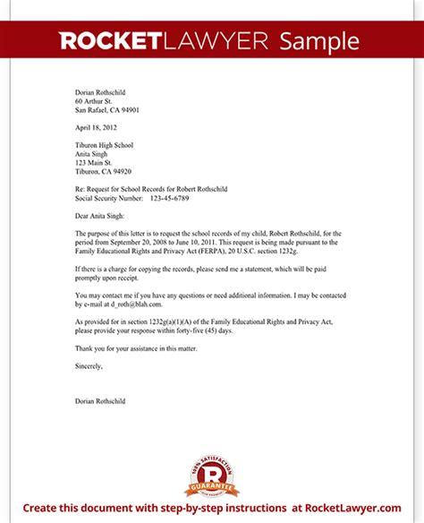 request copy  school records form  sample