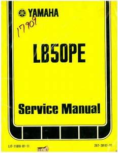Used 1978 Yamaha Lb50pe Moped Chappy Service Manual