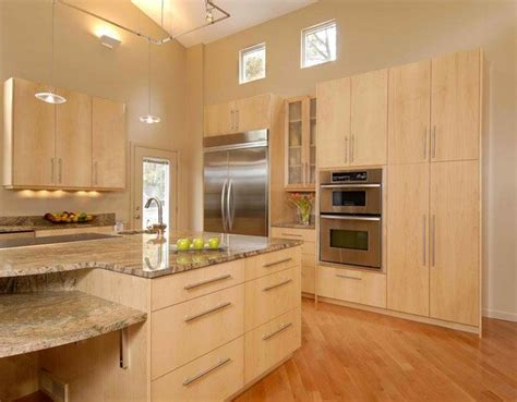 contemporary wooden kitchen cabinets home design lover