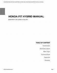 Honda Fit Hybrid Manual By Dorahill4842