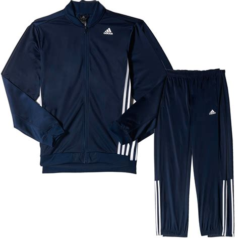 Navy Blue Set by Adidas Essential Mens Tracksuit Set Navy Blue