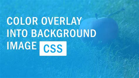 css background image color overlay color filter quick tutorial youtube