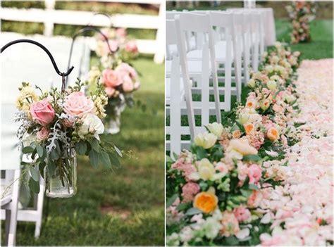 outdoor wedding aisle decoration ideas to