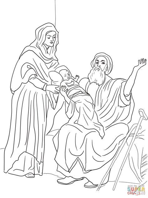 dibujo de el nino jesus en el templo  colorear