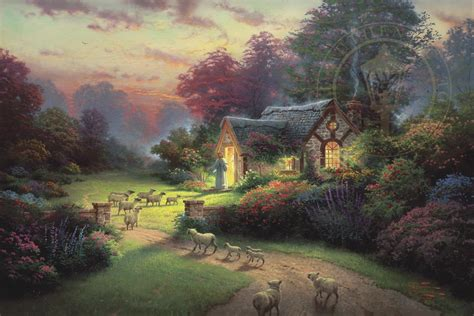 kinkade cottage painting shepherd s cottage the limited edition