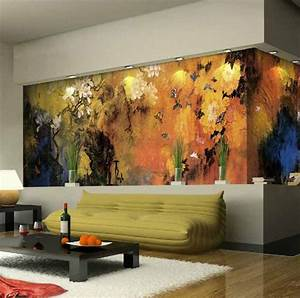 Living room designs with unexpected wall murals decoholic
